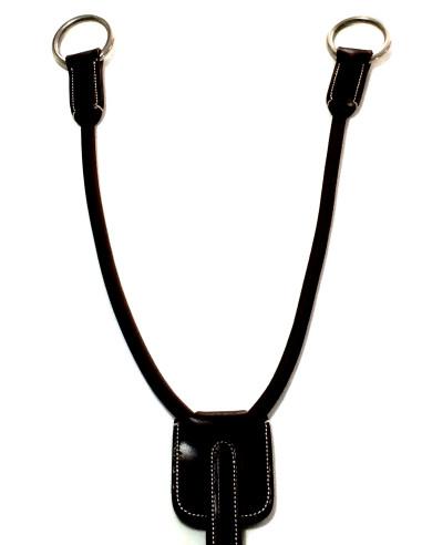 Fourche de martingale Silver Crown élastique noir