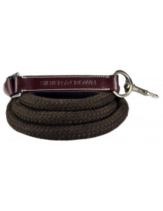 Longe Silver Crown Corde/Cuir châtaigne