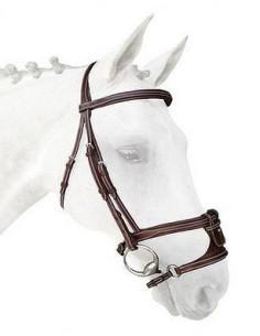 Têtière Silver Crown Comporta châtaigne sans rivets