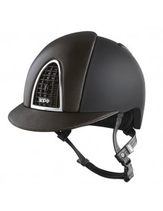Casque Kep Cromo Leather noir cuir marron