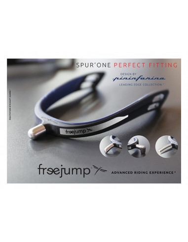 Eperons Free Jump Spur'one Bout Rond noir/marine