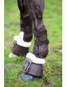 Cloches Kentucky cuir mouton marron/ mouton naturel