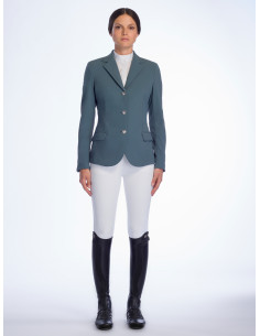 Veste Cavalleria Toscana Riding Jacket micro print vert d'eau
