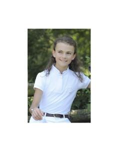 Polo Pénélope Madrid Enfant blanc
