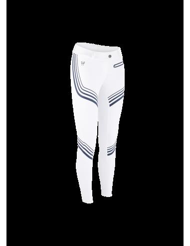 Pantalon Horse Pilot X-Plosive blanc/marine