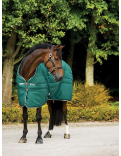 Couverture Horseware Rambo Stable Rug 400grs vert