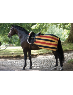 Couvre-Reins Horseware Rambo Competition Sheet noir/jaune/rouge