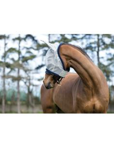 Masque Horseware Amigo Finemesh Flymask silver/marine