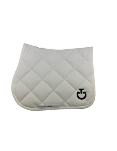Tapis Cavalleria Toscana Jersey Quilted Rhombi blanc