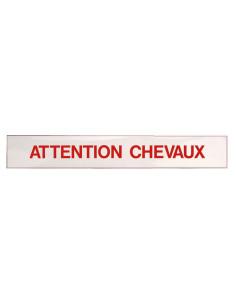 """Panneau Ekkia Autocollant """"Attention Chevaux"""""""
