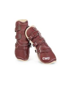 Protège-tendons CWD Mademoiselle boucles néoprène châtaigne/ivoire