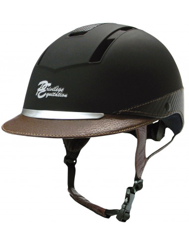 Casque Privilège Equitation Confort noir/marron