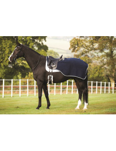Couvre-Reins Horseware Rambo Waterproof Fleece Competition Sheet marine